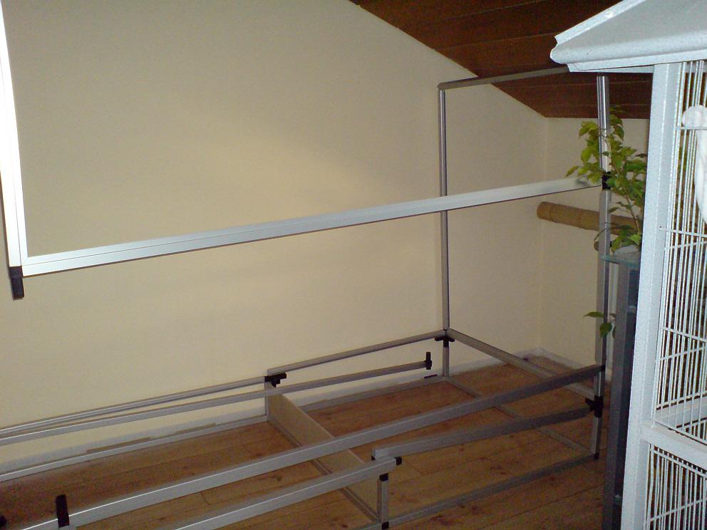 eck terrarium aus aluminium selber bauen. Black Bedroom Furniture Sets. Home Design Ideas